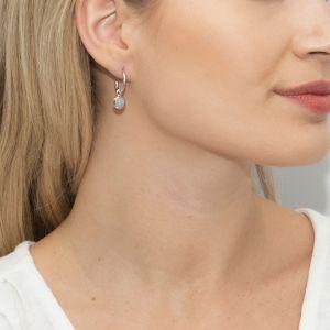 Sarah Alexander Starling Blue Lace Agate Mini Hoop Earrings