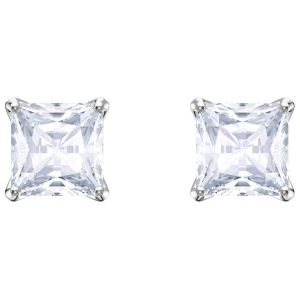 Swarovski Attract Stud Pierced Earrings, White, Rhodium Plating 5430365