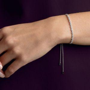 Swarovski Subtle Bracelet, White, Rhodium Plating 5465384