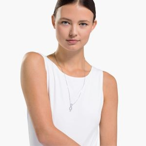 Swarovski Swan Infinity Necklace - Rhodium Plated - 5537966