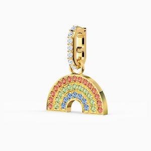 Swarovski Remix Collection Rainbow Charm - Gold-tone Plated