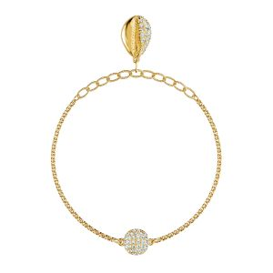 Swarovski Remix Collection Shell Strand - Gold-tone Plated