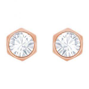 Swarovski Hexagonal Stud Earrings - Rose-gold plating 5371199
