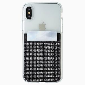 Swarovski Smartphone Sticker Pocket - Black
