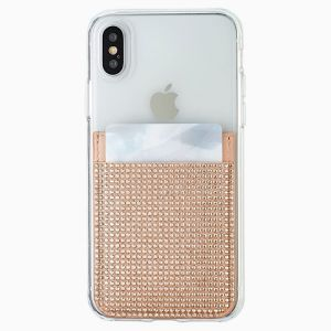Swarovski Smartphone Sticker Pocket - Rose Toned