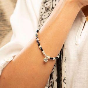 Annie Haak Swarovski Sparkle Silver and Black Bracelet
