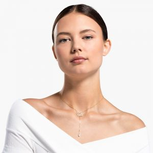Swarovski Symbolic Necklace - White - Gold-Tone Plated