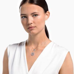 Swarovski Symbolic Mandala Necklace - Rhodium Plating