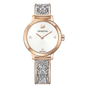 Cosmic Rock Watch, Metal Bracelet, Grey, Rose Gold Tone 5376092