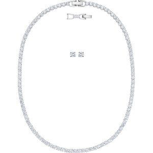 Swarovski Tennis Deluxe All-Around Set, White, Rhodium Plating 5506861