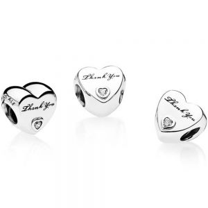 Pandora Polished Thank You Heart Charm - 792096CZ