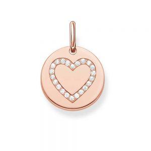 Thomas Sabo Heart Disc Pendant - Rose Gold LBPE0005-416-14