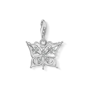 Thomas Sabo Charm Pendant - Star and Moon in Silver - 1852-051-14