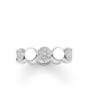 Thomas Sabo Sparkling Circles Disc Ring - Silver TR2048-051-14