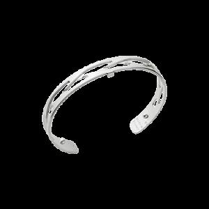 Les Georgettes Tresse 8mm Silver Finish Bangle