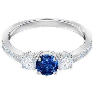 Swarovski Attract Trilogy Round Ring, Blue, Rhodium Plating 5448850, 5448900, 5416152, 5448831, 5448879
