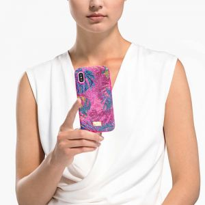 Swarovski Tropical Smartphone Case - Pink - iPhone X/XS