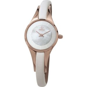 Obaku Ladies 'Morgen' Rose Gold Slim Watch
