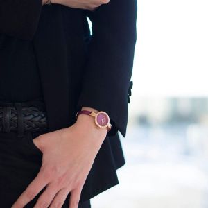 Obaku Ladies 'Siv' Blue Leather Strap Watch V129LXVLRA