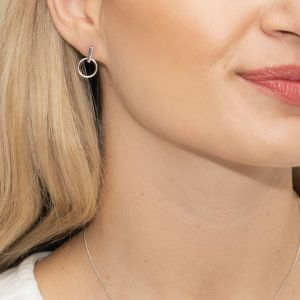 Sarah Alexander Vamp Circle Stud Silver Earrings sa-vampe