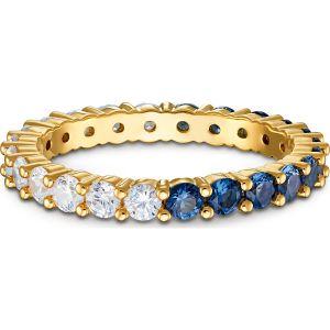 Swarovski Vittore Ring - Blue and White - Gold-Tone