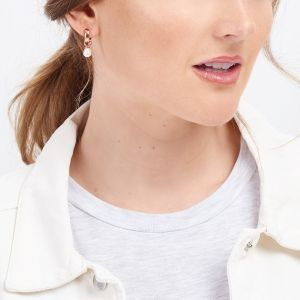 Jersey Pearl VIVA Earrings, Rose-Gold