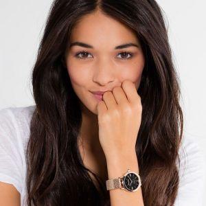 Thomas Sabo Women's Glam Spirit Watch, Mesh Rose Gold and Black