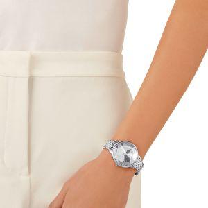 Swarovski Crystal Lake Watch, Metal Bracelet, White, Silver Tone 5416017