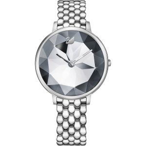Swarovski Crystal Lake Watch, Metal Bracelet, White, Silver Tone