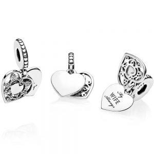 Pandora My Wife Always Heart Dangle Charm - 792099CZ