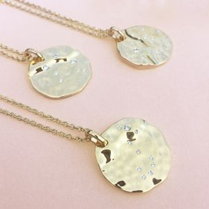 Unique & Co Zodiac Constellation Pendant - Sagittarius in Silver MK-626