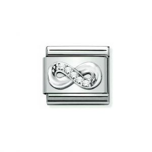 NOMINATION Composable Classic SYMBOLS Steel, Cubic Zirconia and Silver 925 Infinity