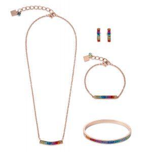 Coeur De Lion Pavé Crystal Multicolour Bracelet