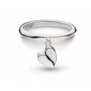 Kit Heath Silver Sweet Heart Ring