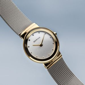 Bering Ladies Classic Polished Gold Watch