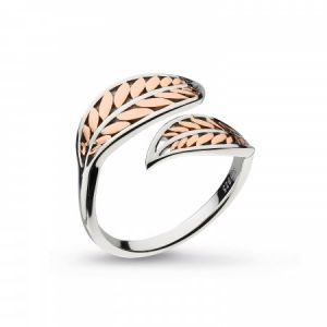 Kit Heath Blossom Eden Blush Leaf Ring