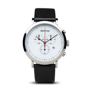 Bering Men's Chronograph Classic Polished Silver Watch