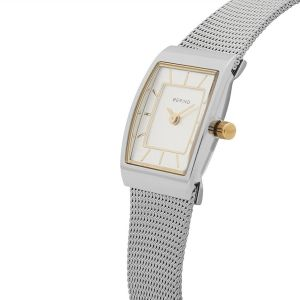 Bering Ladies Silver Rectangle Milanese Watch