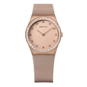 Bering Ladies Rose Gold Swarovski Set Watch