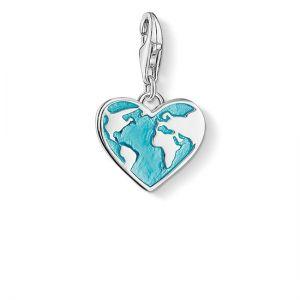 Thomas Sabo Charm Pendant, Heart Globe