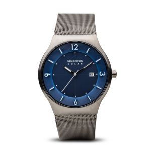 Bering Solar Brushed Grey Watch