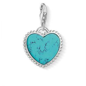 Thomas Sabo Charm Pendant, Turquoise Heart 1468-404-17