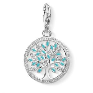 Thomas Sabo Charm Pendant, Turquoise Tree of Love