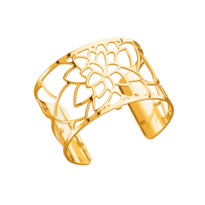 Les Georgettes Nenuphar 40mm Gold Finish Bangle
