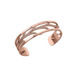 Les Georgettes Courbe 14mm Rose Gold and Zirconia Bangle