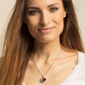 Thomas Sabo Charm Pendant, Red Stone Heart
