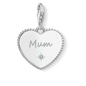 Thomas Sabo Charm Pendant, Silver Heart 'Mum'