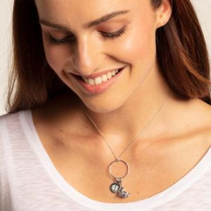 Thomas Sabo Charm Pendant, Baby Footprint Disc
