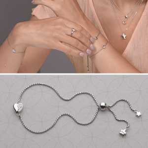 Kit Heath Miniature Sparkle CZ Sweet Heart Toggle Bracelet