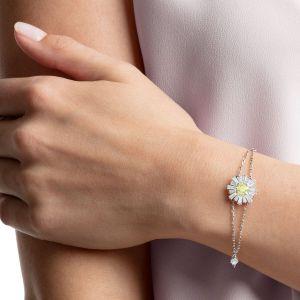 Swarovski Sunshine Bracelet, White, Rhodium Plating